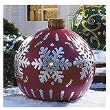 Bola decorada inflable de Navidad al aire libre, Bola decorada inflable de pvc de Navidad al aire libre, Bola inflable de Navidad gigante Decoraciones para árboles de Navidad con bomba ( Color : *E )