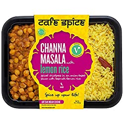Café Spice Channa Masala with Lemon Rice, Indian Meal, Plant Based, 16oz