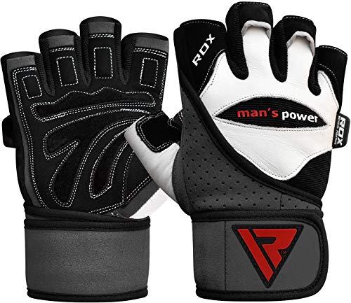 RDX Rindsleder Fitness Handschuhe - 6