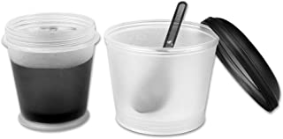 comprar comparacion Schramm® Yoghurt Cup 7 Colours to go Muesli-to-Go Muesli Cup with Integrated Cooling Compartment and Spoon Cereal Bowl Yog...
