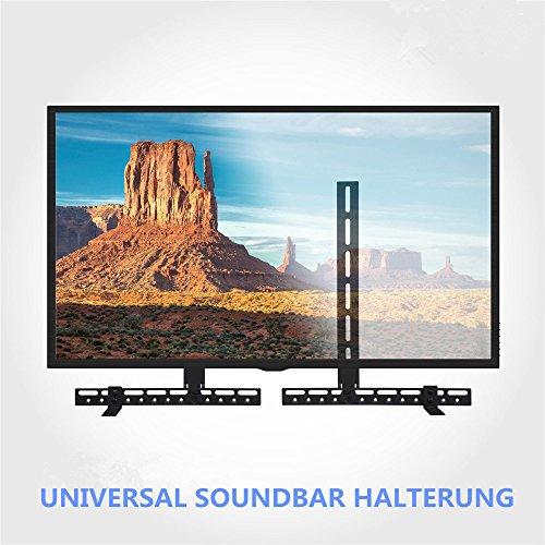 Malayas Soporte Universal para Barra de Sonido Soporte para Encima o por Debajo de TV Se Adapta a Cualquier televisor de Pantalla Plana Carga hasta 10kg