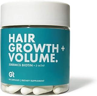 Genesis Today - Hair Growth & Volume – High Potency 5,000 mcg Biotin Folate Healthy Hair Vitamin – 90 Capsules