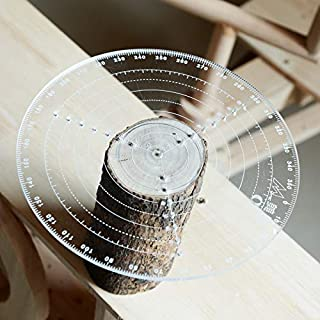 300mm Round Center Finder Compass for Wood Turners Lathe Work Clear Acrylic Drawing Circles Diameter