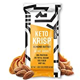 Keto Krisp Keto Bars - Low-Carb, Low-Sugar - (12 Pack, Almond Butter) - Gluten-Free Crispy, Perfectly Delicious, Ketogenic Healthy Diet Snacks and Food