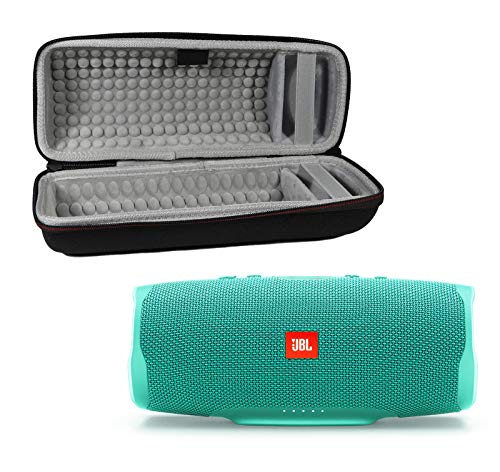JBL Charge 4 Waterproof Wireless Bluetooth Speaker Bundle with Portable Hard Case - Teal