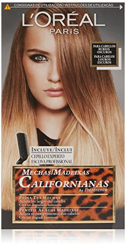 L'Oreal Paris Preference Mechas Californianas - Tinte, color rubio oscuro , 5 piezas, 200 gr