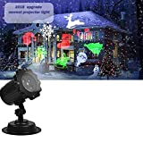 Comkes Christmas Projector Lights with Red Dots, Bright Led Landscape Spotlight Indoor and Outdoor Waterproof Projection Led Lights for Christmas Decorations