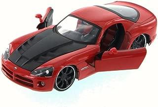 Jada 2008 Dodge Viper SRT10, Red 96805XN - 1/24 Scale Diecast Model Toy Car