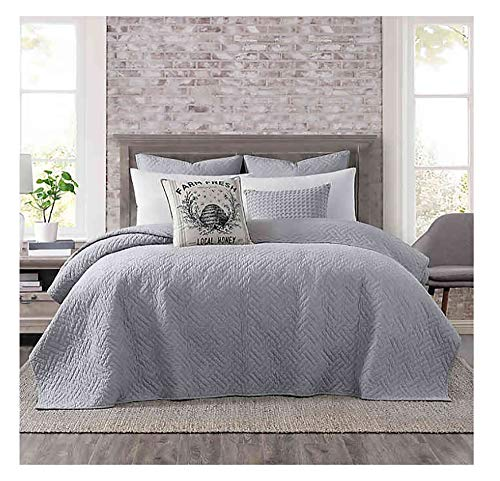 Buy Bargain Bridge Street Logan King Coverlet in Grey