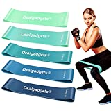 Resistance Bands Exercise Workout Bands Set for Women and Men, 5 Pcs Fitness Bands, Gym Stretch Bands with Instruction Guide and Carry Bag
