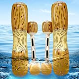 Dokeawo Battle Log Rafts Inflatable Pool Float Row Toys Outdoor Games Pool Float Water Toys Summer Pool Party Water Sport for Kids & Adults Max Weight 220lbs