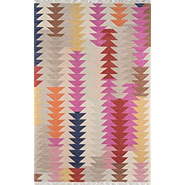Momeni Rugs CARAVCAR-3MTI3959 Caravan Collection, 100% Wool Hand Woven Transitional Area Rug, 3'9  x 5'9 , Multicolor