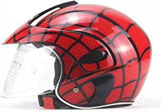 FYBAO Niños Casco Spider-Net Moto Deportiva Casco de Ciclista Arte niño Que Monta en Bicicleta Medio Casco Casco de Cuatro Estaciones de Seguridad para niños 2-7 años