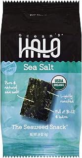 Ocean's Halo Seaweed Snacks (Sea Salt) 1 case of 12 Unit Trays