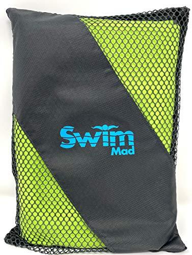 Toalla deportiva de microfibra de viaje (130 x 75 cm) Bolsa de transporte, gimnasio, camping, natación, yoga, playa, vacaciones, compacta, ligera y de secado rápido (verde, 130 x 75 cm)
