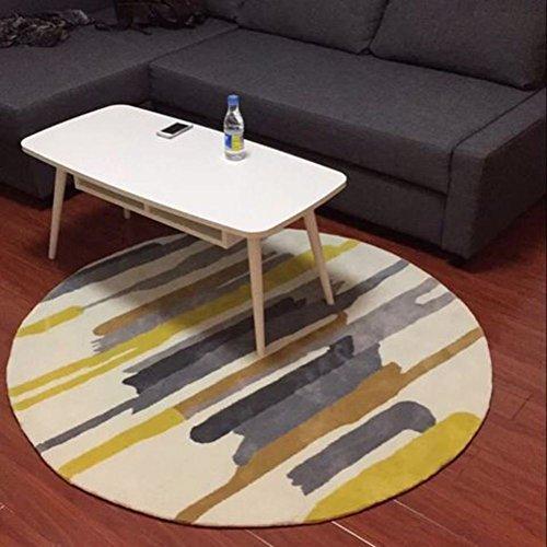 NVLKJHSFGIUJFKL Tetera área alfombras Forro de Goma Negro y Blanco Redonda Sala Dormitorio Estudio Club-D diámetro100cm(39inch)