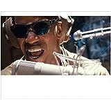 Ray Jamie Foxx as Ray Charles Singing into Microphone Wearing Headphones Head Shot 8 x 10 inch photo