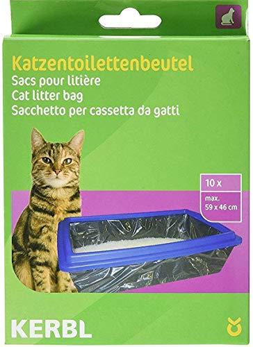 Kerbl 84215 zakje voor kattentoiletten XL 59 x 46 cm, pak van 10 kattenblokjes
