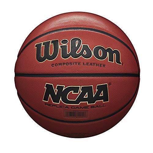 Wilson WTB0730 Pelota de Baloncesto NCAA Replica Comp Cuero sintético Interior y Exterior, Naranja, 7