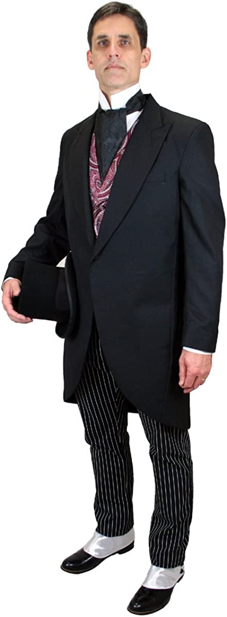Historical Emporium Men's Traditional Tuxedo Cutaway Coat
