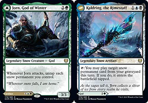 Magic: The Gathering - Jorn, God of Winter // Kaldring, The Rimestaff - Foil - Kaldheim