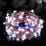 Luces Led USB, Ariceleo 1 Piezas 5 Metros 50 LED Mini LÁMpara Alambre de Cobre Guirnalda Cadena Luces de Navidad para Casa Dormitorio Navidad Habitacion Fiestas Boda DecoraciÓN(Blanco FríO)