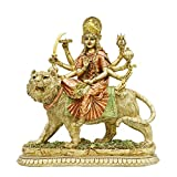 alikiki Hindu Goddess Lord Durga Statue - India God Murti Idol Home Temple Puja Sculpture - Indian Diwali Day Gifts Mandir Pooja Decoration