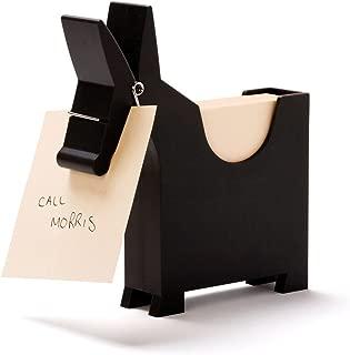 Morris The Donkey - Desktop Note Pad, Note Dispenser and Pen Holder, for Memo, Notes, Bock of 140 Blanks, Black/Red / White.
