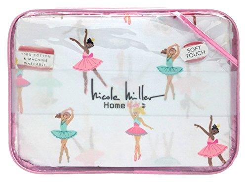 Nicole Miller Ballerina Ballet Class Soft Touch Cotton Twin Sheet Set