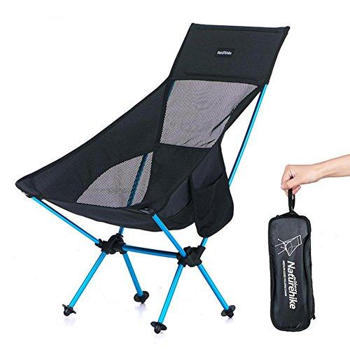 TZ TED Chaises de Camping Pliantes Chaise d'extérieur Confortable Compact Ultra Léger Moon Leisure Chaise pour Camping Randonnée Voyage Chasse Pêche Longue Lune Épaissir Dossier Sac à Suspendre