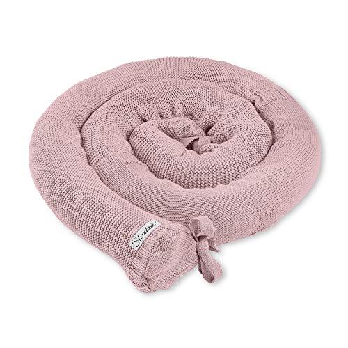 Sterntaler Tour de lit en Tricot Baylee, Taille : 180 x 8 x 8 x 8 cm, Couleur : Rose