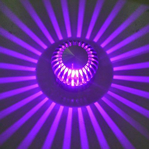 OOFAY Faretti A Incasso da Incasso Corridoio Creativo Corridoio Luci di Ingresso Lampade A LED Ad Effetto Luminoso,Purple