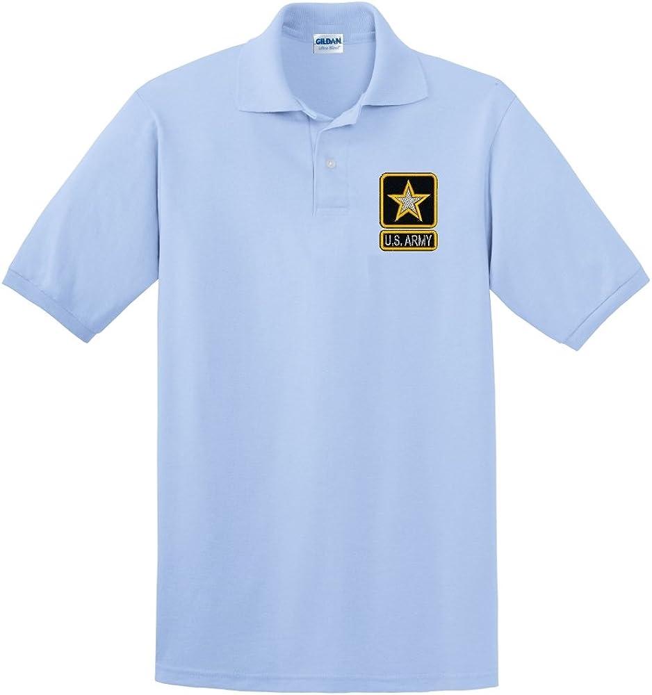 Custom Embroidered U.S. Army Star Design on Polo Shirt