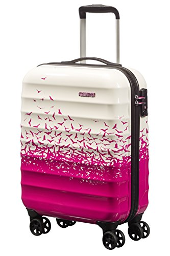 American Tourister Palm Valley Spinner 55/20, Bagaglio a mano, Litri 32, Fly Away Pink