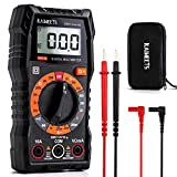 KAIWEETS KM100 Digital Multimeter, Multimeter to Measure Continuity, AC and DC Voltage, Direct Current, Resistance, Diode, Voltmeter with Double Fuses, Test Leads and Mini-Case,