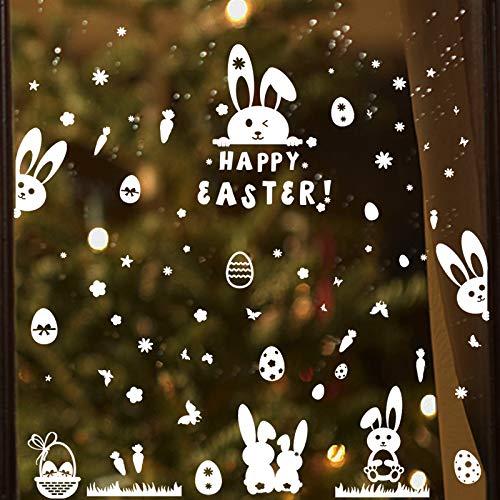 Ostern Fensterbilder Selbstklebend Fensteraufkleber Frühling Aufkleber Fenster Fenstersticker Sticker Fensterdeko Fenstertattoo Fensterschmuck Osterdeko Osterdekoration
