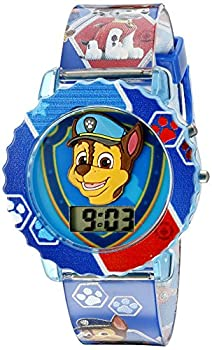 Paw Patrol Kids  Digital Watch with Blue Case Comfortable Blue Strap Easy to Buckle - Official 3D Paw Patrol Character on the Dial Safe for Children - Model  PAW4015