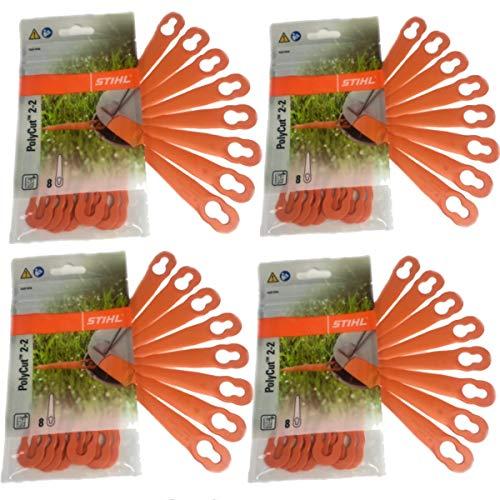 PolyCut 2-2 lames en plastique pour coupe-bordures FSA 45 (4 paquets = 32 pièces) 40080071000