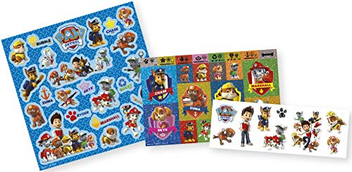 Paw Patrol stickerbox met 3 stickervellen en meer dan 50 stickers met chase, Marshall, Rocky, Zuma, Rubble, Skye en Everest – TM Essentials 720022