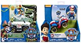 Paw Patrol Ryder's Rescue ATV,, Jungle Rescue, Tracker's Jungle Cruiser, Vehicle & Figure Includes Blizy Pen