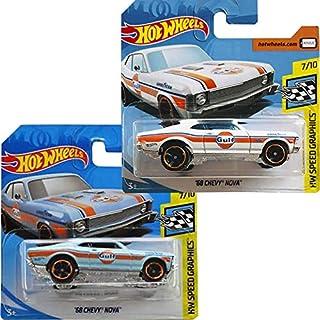 Hot Wheels Pack '68 Chevy Nova HW Speed Graphics 67/250 2019 Short Card