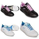 Scarpe da bowling, KR Strike Force Capri, per donne e bambini, per destrorsi e mancini in 2colori Scarpe Taglia 36–41, bianco/blu, 37,5