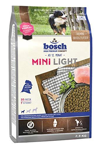 bosch HPC Mini Light | Hundetrockenfutter für übergewichtige Hunde kleiner Rassen (bis 15 kg) | 1 x 2.5 kg