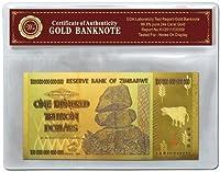 黄金の100000000000000 ジンバブエドル 100兆 ジンバブエドル 豪華版