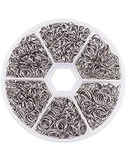 PandaHall Elite 1800 stuks 304 roestvrij stalen splitringen Double Loop Jump Ring voor sieraden maken, met ringgereedschap, buitendiameter 5 mm x 1,2 mm