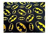 Batman Logo Cotton Fabric DC Comics Hero Craft Sewing Face Mask (18'x21' Fat Quarter)