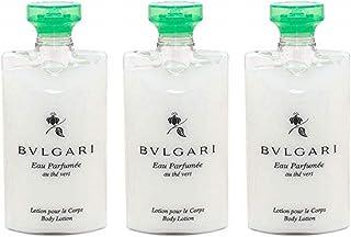 Bvlgari Au The Vert (Green Tea) Lotion - Set of 3, 2.5 Fluid Ounces Bottles