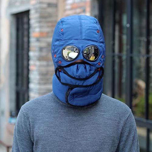 XCLWL Russen muts heren winter Bomber Hats pluche oorflap met bril mannen vrouwen trapper Aviator Pilot Hat Caps