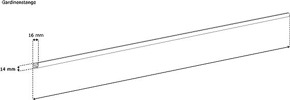 Barra para Cortina//Carril para Cortina 1-gu/ía 120cm Victoria M 2 en 1 Color Plata /Ø 16mm