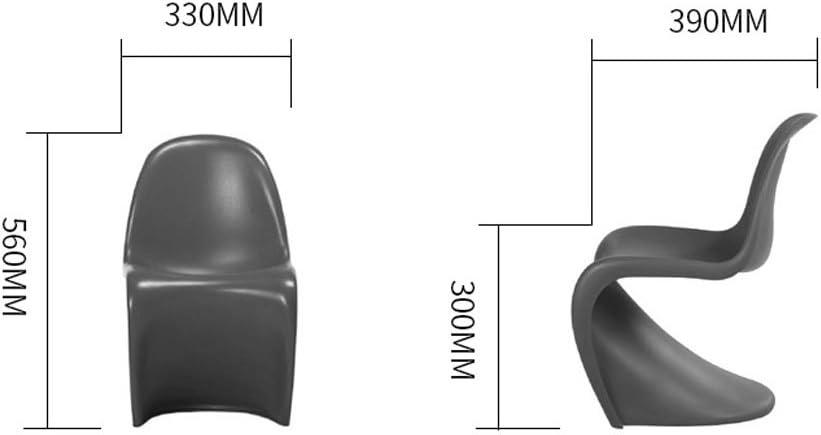 SLL- Chaise de dossier d'enfant maternelle bébé épaissir en plastique moderne petite chaise de salle à manger créative Fauteuils et Chaises (Color : Green) Yellow